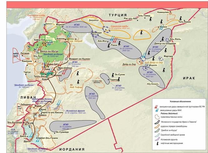 Nga công bố bản đồ tác chiến đánh khủng bố Syria ảnh 10