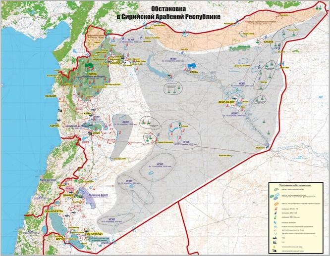 Nga công bố bản đồ tác chiến đánh khủng bố Syria ảnh 11