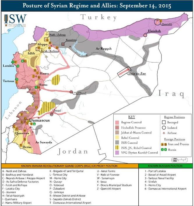 Nga công bố bản đồ tác chiến đánh khủng bố Syria ảnh 7