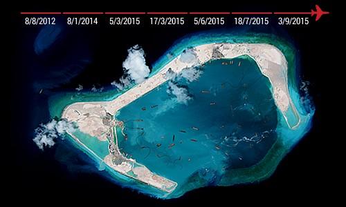 Khu trục hạm Mỹ đang tiến sát đảo nhân tạo, Trung Quốc phản ứng mạnh ảnh 1