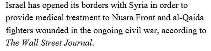 Nghi vấn Israel hỗ trợ các tổ chức Hồi giáo cực đoan ở Syria ảnh 6