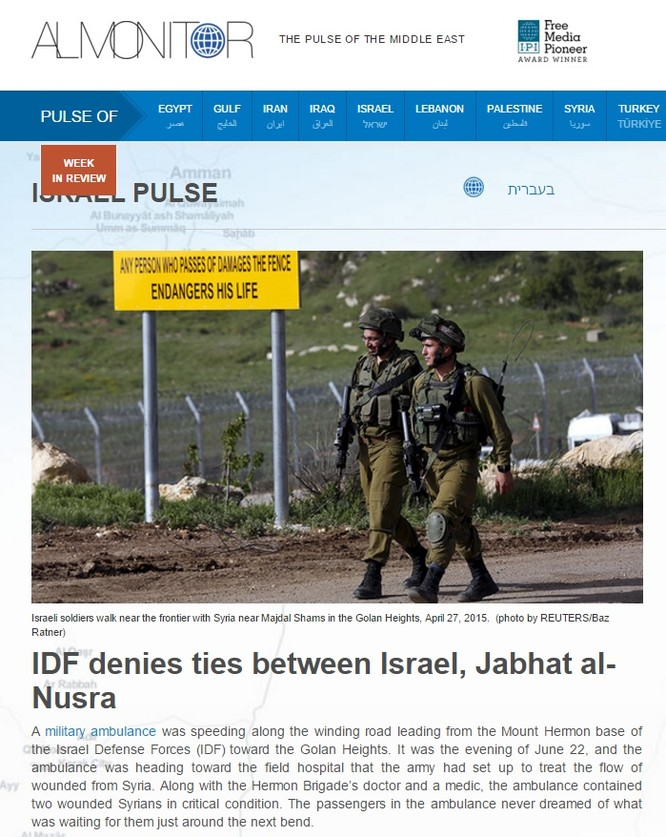 Nghi vấn Israel hỗ trợ các tổ chức Hồi giáo cực đoan ở Syria ảnh 7
