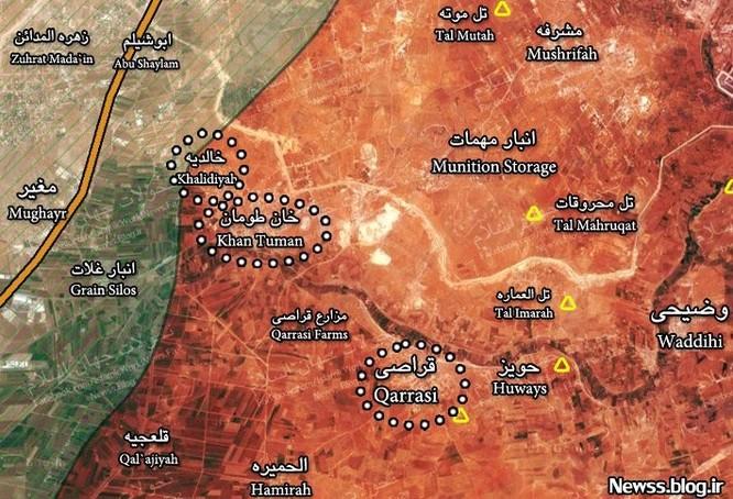 Tấn công với T-90 ở Aleppo, thế phong tỏa biên giới Thổ Nhĩ Kỳ của quân đội Syria rõ dần ảnh 3