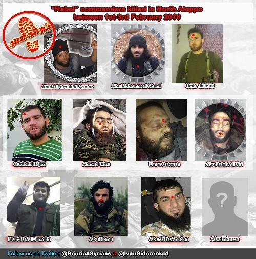 Mười một thủ lĩnh khủng bố Al Nusra bị tiêu diệt ở Aleppo ảnh 1