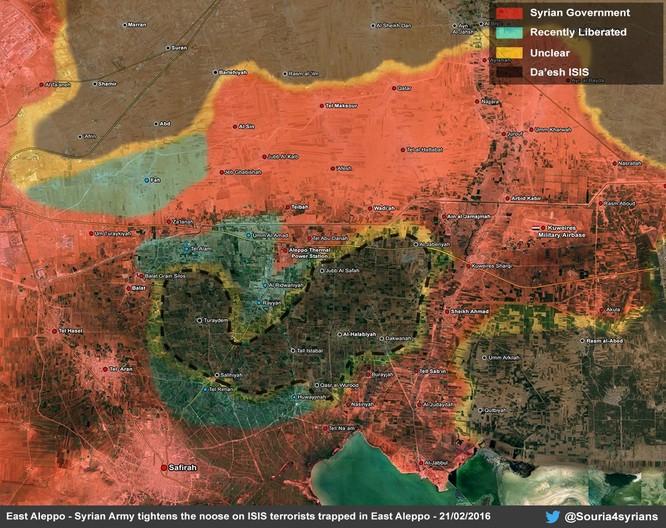 Chiến trường Aleppo, một bước tiến mới của quân đội Syria ảnh 1