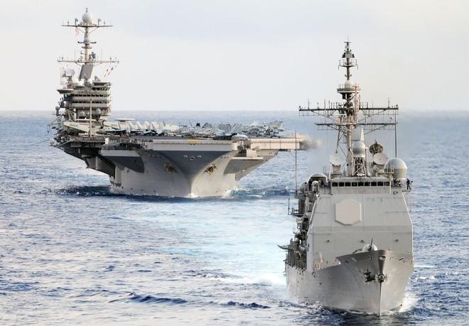Cụm tàu sân bay chiến đấu Mỹ phô diễn uy lực ở Biển Đông ảnh 8