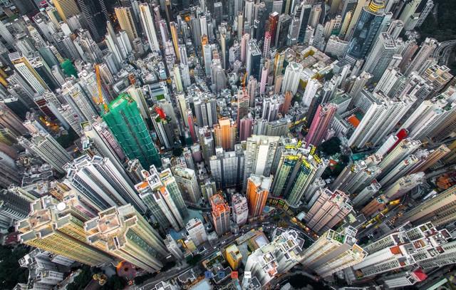 Hong Kong chật kít nhà cao tầng qua góc nhìn Flycam ảnh 2