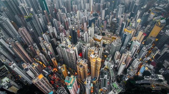 Hong Kong chật kít nhà cao tầng qua góc nhìn Flycam ảnh 3