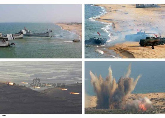 Cận cảnh uy lực pháo binh của Quân đội Nhân dân Triều Tiên trong diễn tập ảnh 25