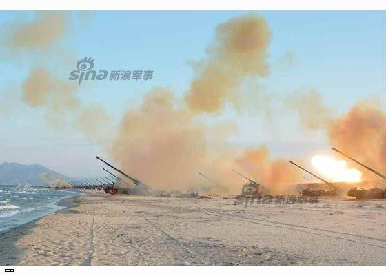 Cận cảnh uy lực pháo binh của Quân đội Nhân dân Triều Tiên trong diễn tập ảnh 27
