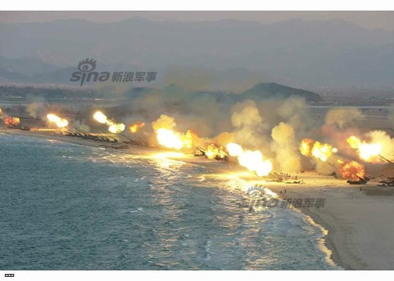Cận cảnh uy lực pháo binh của Quân đội Nhân dân Triều Tiên trong diễn tập ảnh 29
