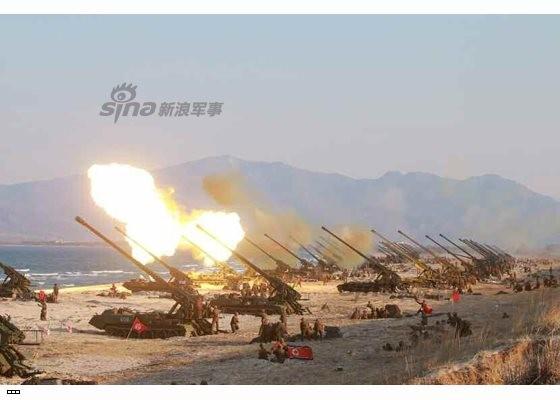Cận cảnh uy lực pháo binh của Quân đội Nhân dân Triều Tiên trong diễn tập ảnh 31