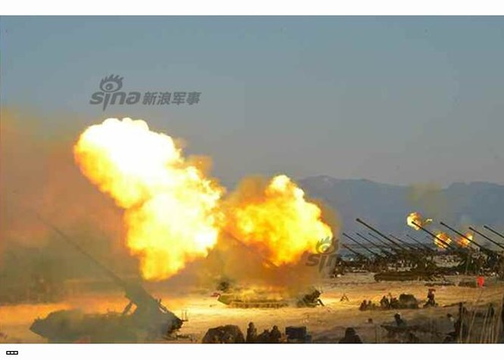 Cận cảnh uy lực pháo binh của Quân đội Nhân dân Triều Tiên trong diễn tập ảnh 36