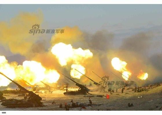 Cận cảnh uy lực pháo binh của Quân đội Nhân dân Triều Tiên trong diễn tập ảnh 39