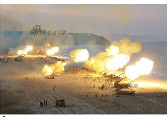 Cận cảnh uy lực pháo binh của Quân đội Nhân dân Triều Tiên trong diễn tập ảnh 43