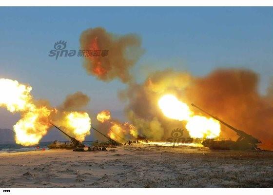 Cận cảnh uy lực pháo binh của Quân đội Nhân dân Triều Tiên trong diễn tập ảnh 44