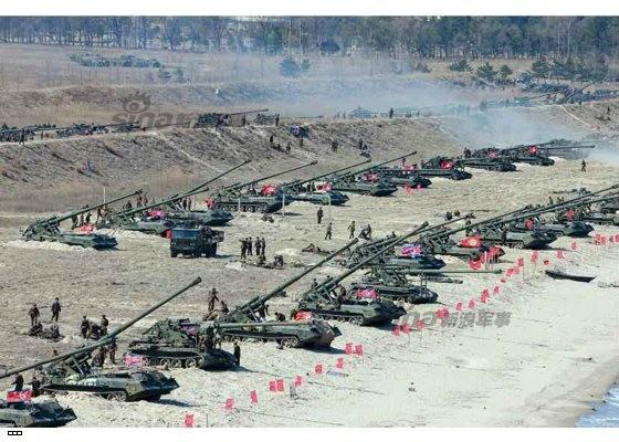 Cận cảnh uy lực pháo binh của Quân đội Nhân dân Triều Tiên trong diễn tập ảnh 45
