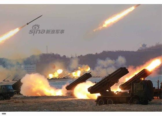 Cận cảnh uy lực pháo binh của Quân đội Nhân dân Triều Tiên trong diễn tập ảnh 48