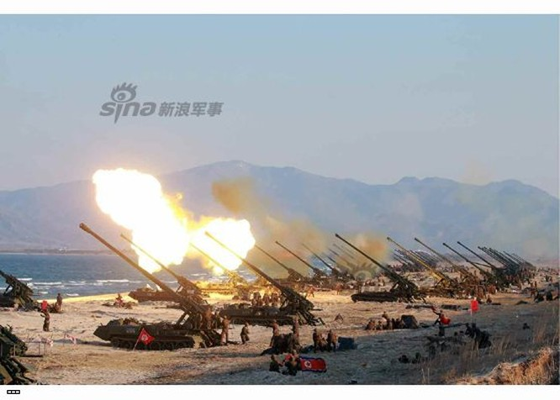 Cận cảnh uy lực pháo binh của Quân đội Nhân dân Triều Tiên trong diễn tập ảnh 49