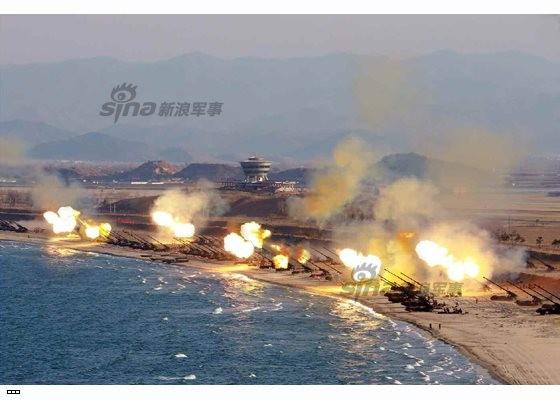 Cận cảnh uy lực pháo binh của Quân đội Nhân dân Triều Tiên trong diễn tập ảnh 50