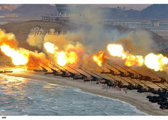 Cận cảnh uy lực pháo binh của Quân đội Nhân dân Triều Tiên trong diễn tập ảnh 55