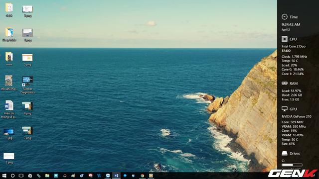 Hiển thị thông số phần cứng ở desktop Windows 10 ảnh 7