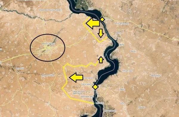 Lực lượng Dân chủ Syria đánh chiếm 3 làng gần thành phố Menbeij ảnh 1