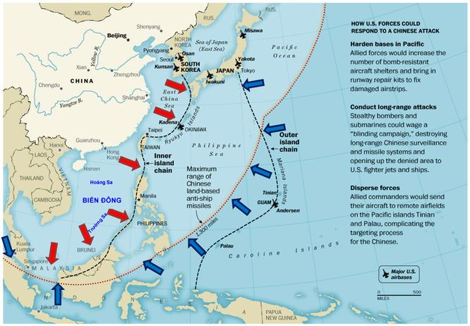 Mỹ bóp nghẹt Trung Quốc trên Biển Đông với 3 chiến lược chiến tranh ảnh 2