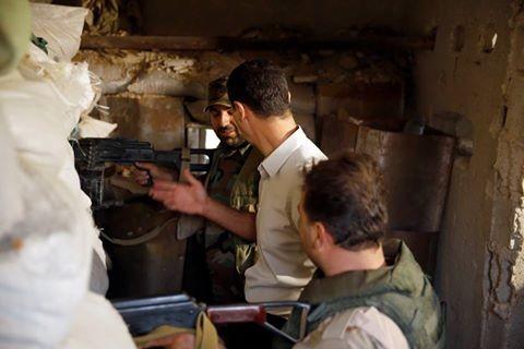 Video: Tổng thống Syria Al Assad thăm chiến trường Đông Ghouta – Damascus ảnh 8