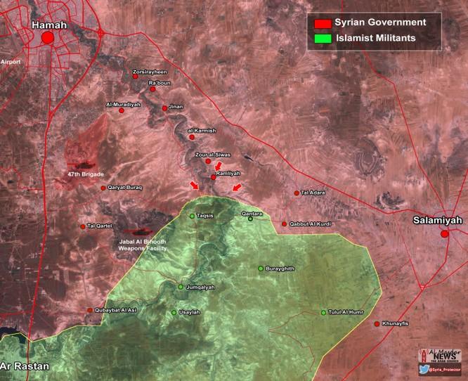 Video: Quân đội Syria tấn công lực lượng Hồi giáo cực đoan trên miền Nam tỉnh Hama ảnh 1