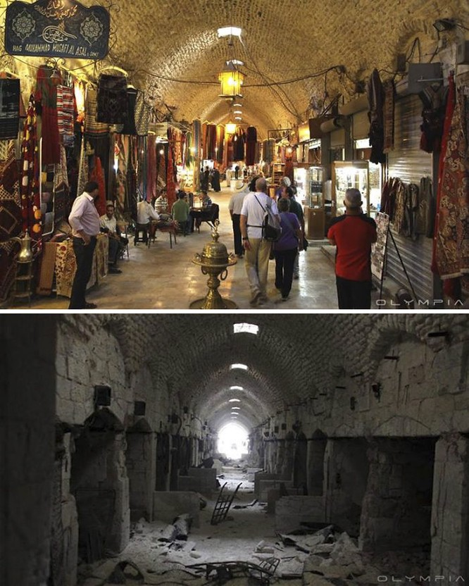 Thành phố Aleppo tan hoang đau thương trong chiến tranh ảnh 2