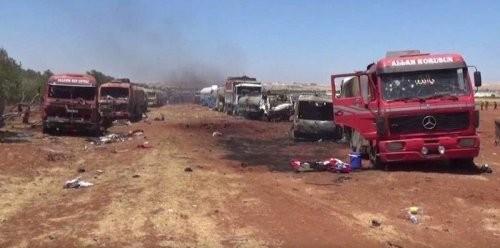 Chùm video chiến sự Syria: Không quân Nga hủy diệt xe bồn chở dầu của IS ảnh 2