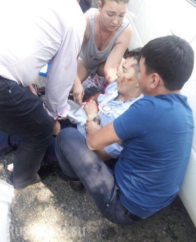 Khủng bố tại thành phố Alma-Ata, hai cảnh sát hy sinh ảnh 1