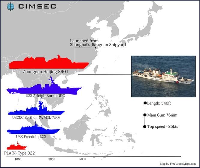 """Trung Quốc tung tàu hải cảnh khổng lồ cho """"cuộc chiến đâm húc"""" ở Biển Đông ảnh 1"""