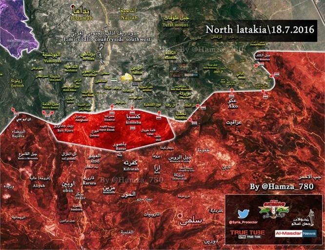 Lính thủy Đánh bộ Syria tái chiếm đồi Tal Qalat Bắc Latakia ảnh 1