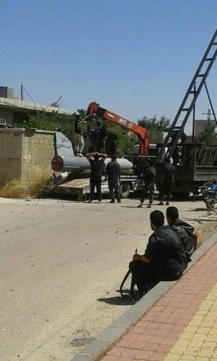 Jabhet Al-Nusra phóng tên lửa hạng nặng vào thành phố Ba'ath tỉnh Quneitra ảnh 1