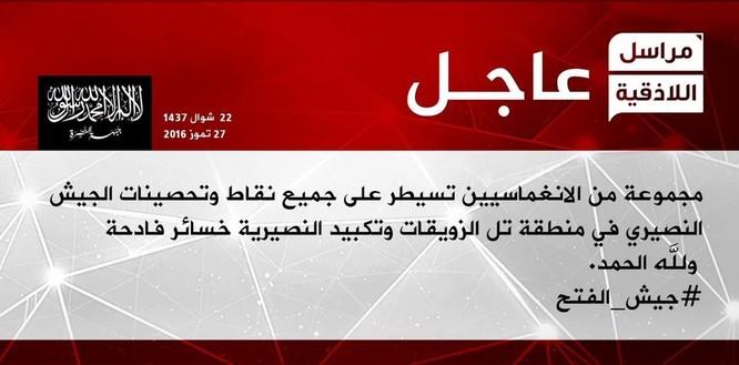 Quân đội Syria tiếp tục thất bại ở Latakia ảnh 1