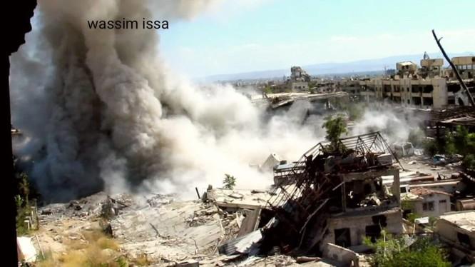 Quân đội Syria đánh sập đường hầm, chôn vùi hàng chục phiến quân Hồi giáo ảnh 4
