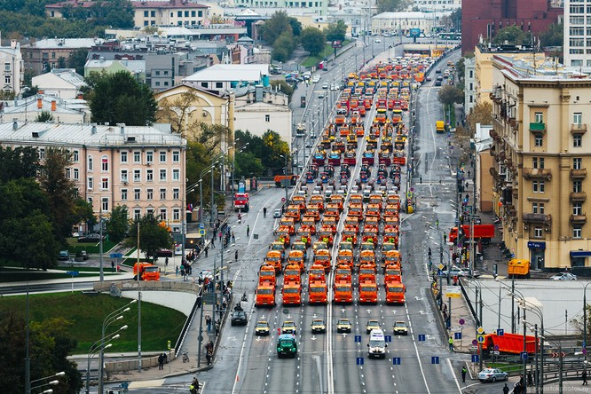 Lễ diễu hành đoàn xe dịch vụ công thành phố Moscow (ảnh + video) ảnh 1