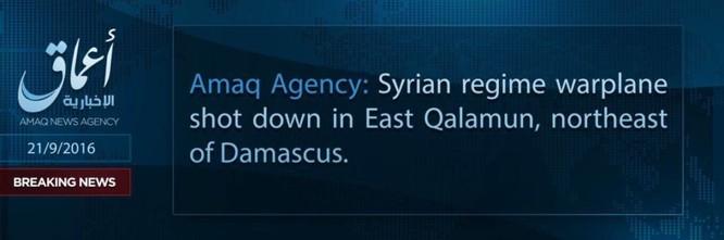 IS lại bắn rơi máy bay của Không quân Syria ở ngoại vi Damascus ảnh 1