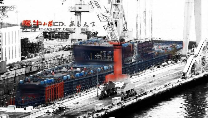 Chóng mặt tốc độ đóng tàu sân bay thứ hai CV -17 của Trung Quốc ảnh 4