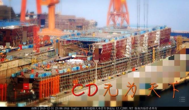 Chóng mặt tốc độ đóng tàu sân bay thứ hai CV -17 của Trung Quốc ảnh 5