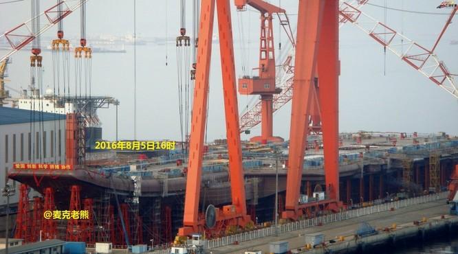 Chóng mặt tốc độ đóng tàu sân bay thứ hai CV -17 của Trung Quốc ảnh 9