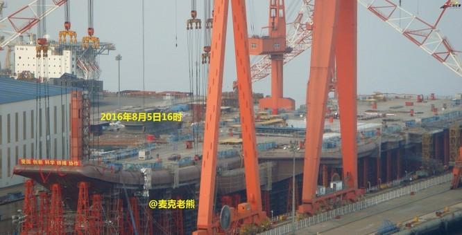 Chóng mặt tốc độ đóng tàu sân bay thứ hai CV -17 của Trung Quốc ảnh 10