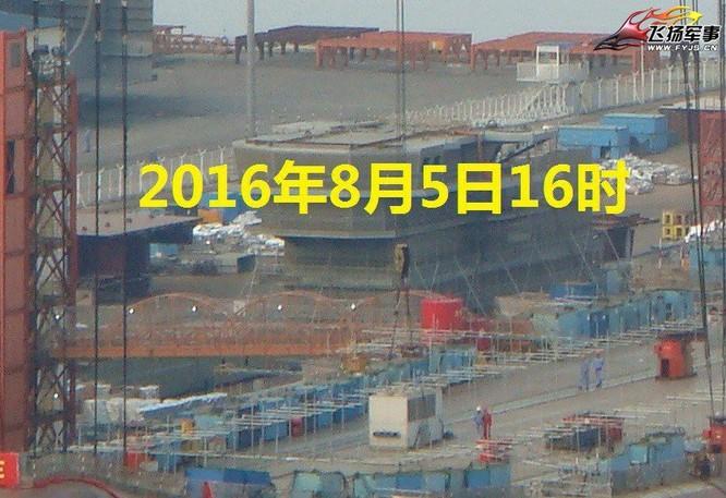 Chóng mặt tốc độ đóng tàu sân bay thứ hai CV -17 của Trung Quốc ảnh 11
