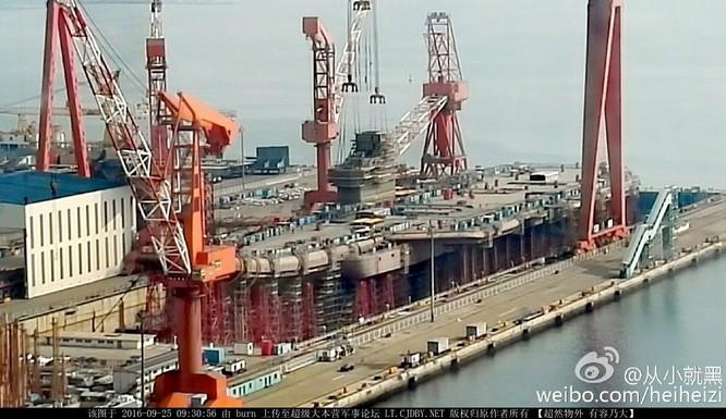 Chóng mặt tốc độ đóng tàu sân bay thứ hai CV -17 của Trung Quốc ảnh 13