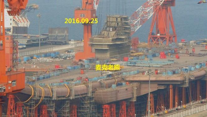 Chóng mặt tốc độ đóng tàu sân bay thứ hai CV -17 của Trung Quốc ảnh 14