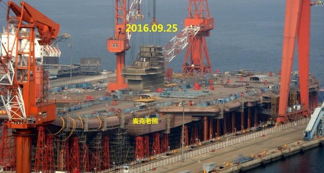 Chóng mặt tốc độ đóng tàu sân bay thứ hai CV -17 của Trung Quốc ảnh 15