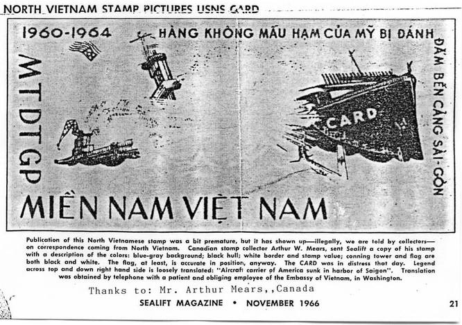 """Biệt động Sài Gòn """"xuất quỷ nhập thần"""" đánh chìm tàu sân bay Mỹ ảnh 2"""