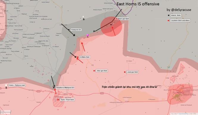 Quân Syria bẻ gãy cuộc tấn công của IS vào khu mỏ khí gas tỉnh Homs ảnh 1